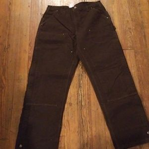 36x34 Quilt Lined Mens Carhartt Pants